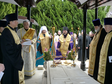 Japan: Primate of Japanese Orthodox Church, Metropolitan Daniel (Nushiro) leading a service during the Lenten period.