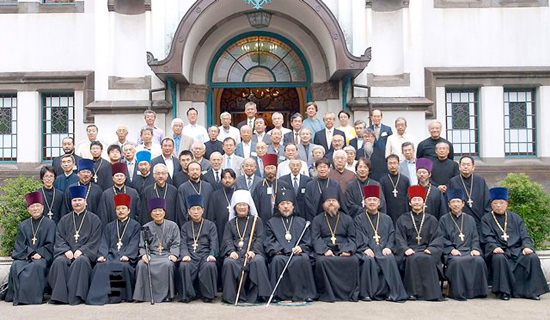 Japan : Metropolitan Daniel of Tokyo and All Japan with Orthodox Prelates and dignitaries